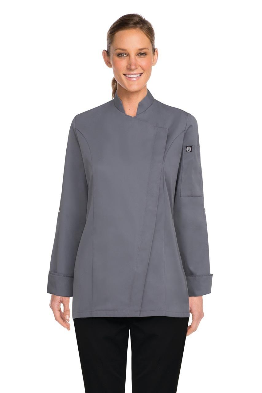 Chef Works Lansing Womens Grey Chef Jacket