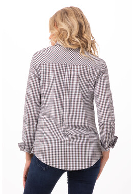 Modern Gingham Long Sleeve Dress Shirt