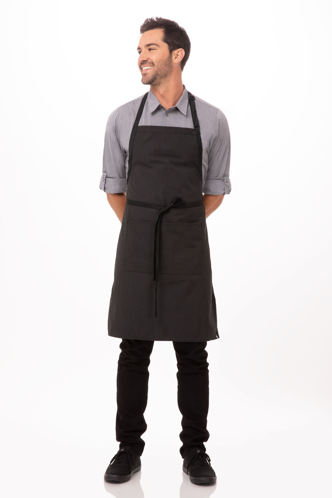 Bib Apron with Contrasting Ties