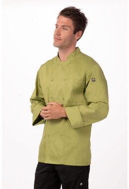 Genova Lime Basic Chef Jacket