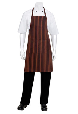 Brown/Orange Striped Bib Apron