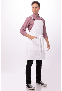 Berkeley White Bib Apron