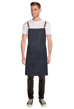 Memphis Blue Denim Cross Back Apron