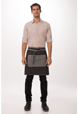 Bronx Black Denim Half Apron