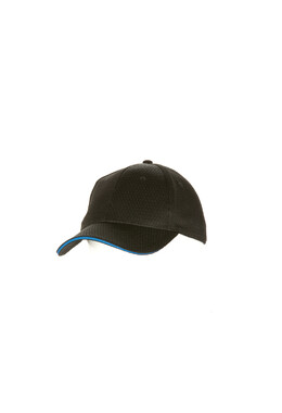 Blue Trim Cool Vent Black Baseball Cap