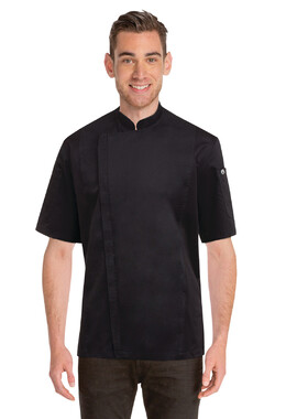Springfield Mens Black Zipper Chef Jacket
