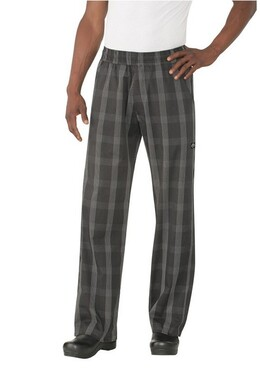 Black Plaid Better Built Baggy Chef Pants