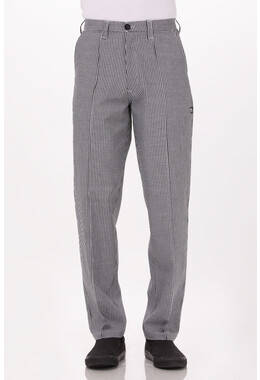 Small Check Fitted Chef Pant