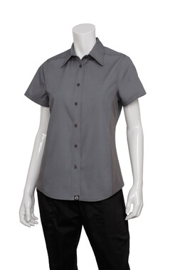 Ladies Grey Universal Contrast Shirt