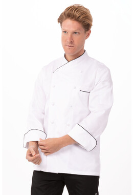 Monte Carlo White 100% Cotton Chef Jacket