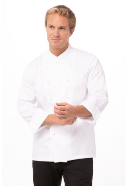 Milan White 100% Cotton Chef Jacket