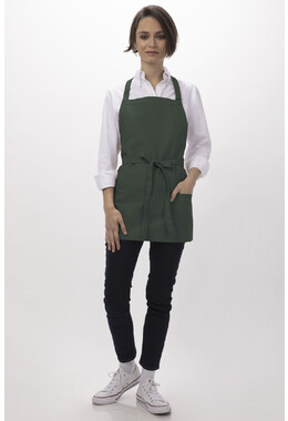 Three Pocket Green Bib Apron