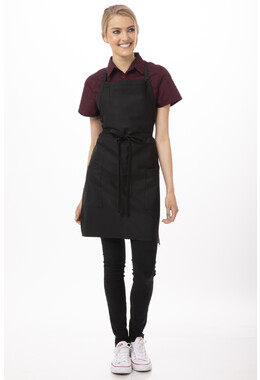 Black Two Patch Pocket Apron