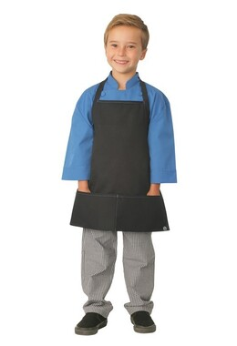 Kids Black with Blue Piping Apron