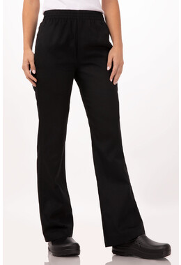 Women's Black Essential Baggy Chef Pants