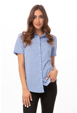 Gingham Womens Dress Shirt