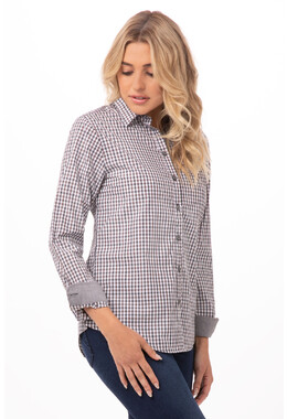 Long Sleeve Womens Gingham Shirt