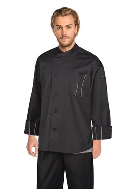 Amalfi Black Signature Chef Jacket