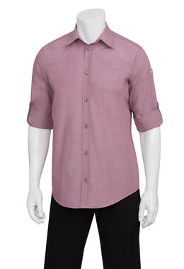 Mens Chambray Dusty Rose Shirt