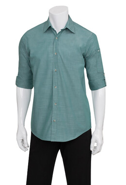 Mens Chambray Green Mist Shirt