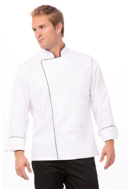 Sicily White Executive Chef Jacket