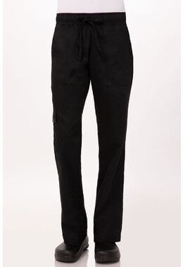 Womens Black Chef Pants